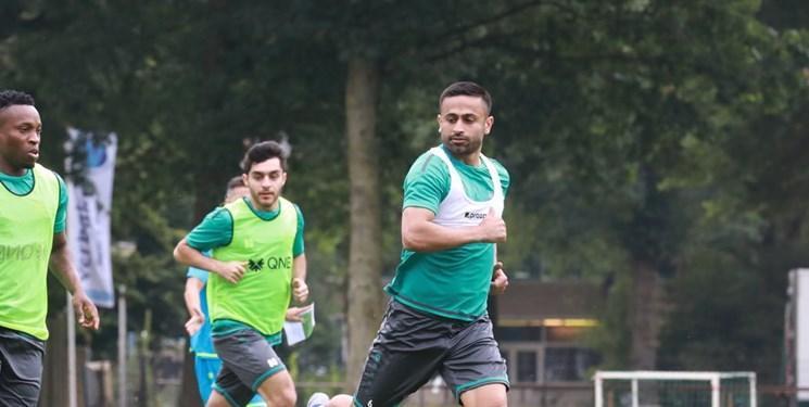تمرینات تاکتیکی یاران ابراهیمی در کمپ باشگاه آیندهوون