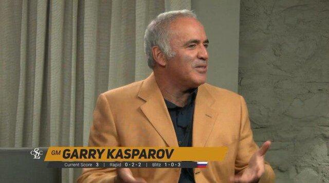 کاسپاروف: زمان، قدرتمندترین حریف است که هیچ کس نمی تواند شکستش دهد