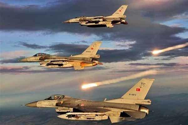 بمباران شدید تل ابیض از سوی جنگنده های ترکیه