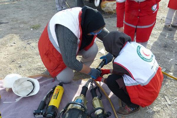 دوره تخصصی نجات حوادث جاده ای برای نجاتگران هلال احمر البرز برگزار گردید