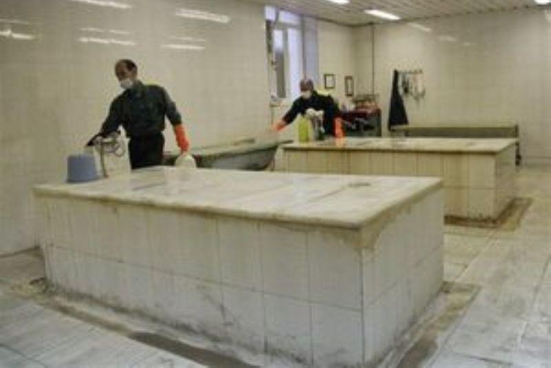 خبرنگاران راه اندازی غسالخانه ویژه متوفیان کرونا در الیگودرز