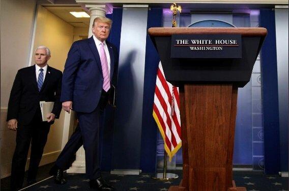 ترامپ:سوالی درباره کرونا وجود ندارد!، عکس