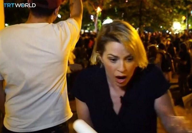 مجروح شدن خبرنگاران تی آر تی ورلد ترکیه در جریان پوشش اعتراضات آمریکا