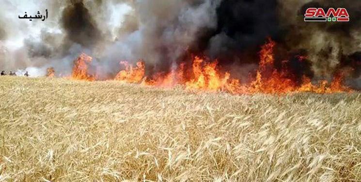 کشف بالن آتش زای آمریکایی در زمین های کشاورزی سوریه