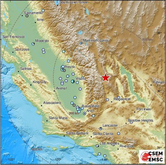 خبرنگاران زلزله 5.8 ریشتری ایالت کالیفرنیا در آمریکا را لرزاند