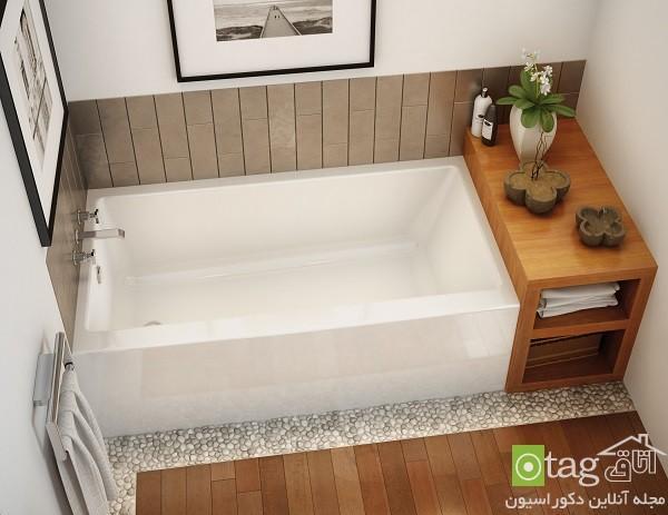 جدیدترین و زیباترین ایده های طراحی وان حمام کوچک و عظیم