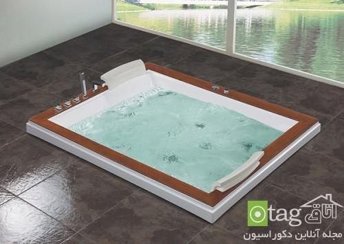 وان جکوزی مدرن و جدید مناسب دکوراسیون حمام های کوچک و عظیم
