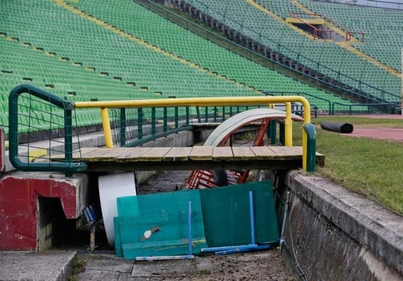 شرایط وحشتناک ورزشگاه بازی محبت آمیز بوسنی - ایران