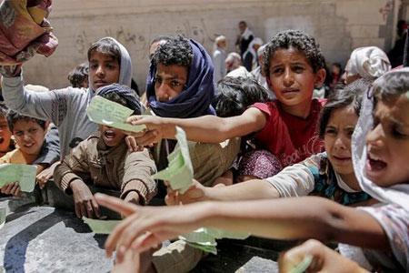 نیمی از جمعیت یمن در معرض گرسنگی