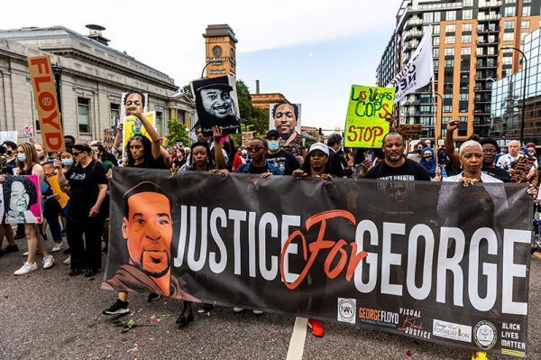 فریاد آزادی خواهی سیاهپوستان در سالگرد قتل فلوید