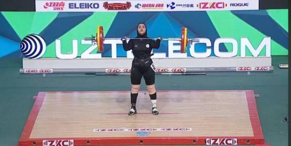 هشتمی الناز باجلانی در وزنه برداری قهرمانی جوانان جهان