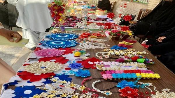 برگزاری نمایشگاه دستاورد های بانوان روستایی در بمپور